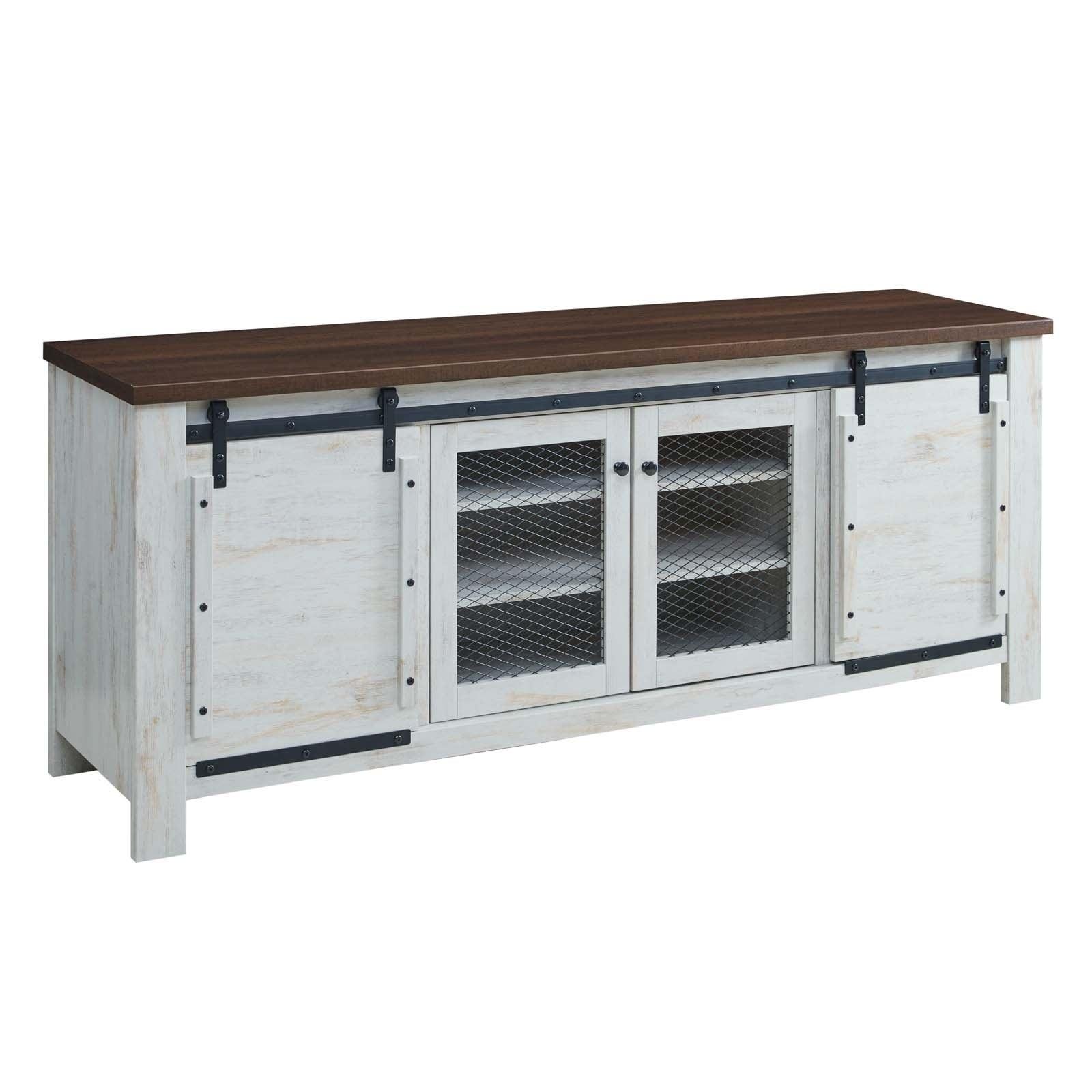 Bennington 70 Rustic Sliding Door Buffet Table Sideboard