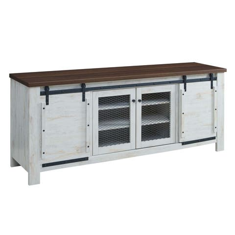 "Bennington 70"" Rustic Sliding Door Buffet Table Sideboard"