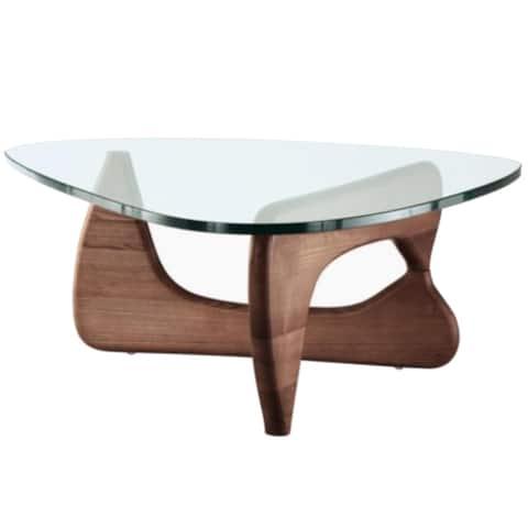 Carson Carrington Ukna Mid-Century Wood/Glass Coffee Table