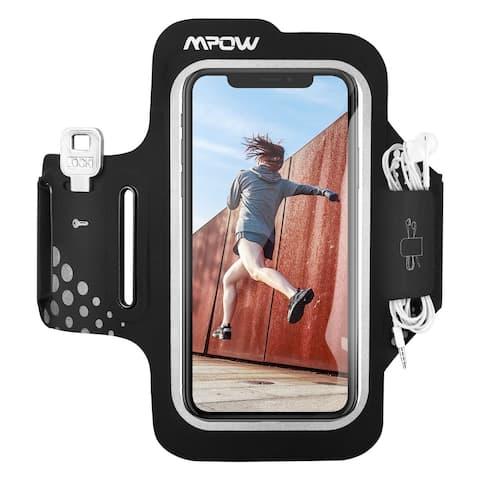 Running Armband for iPhone XR 8/7/6s Samsung Galaxy S9/S8 Sweatproof Sports Armband Adjustable Strap Earphones Key Card Pocket