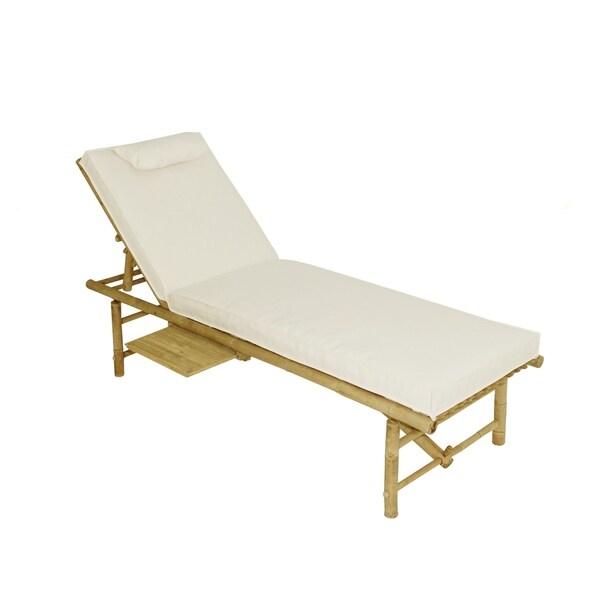 Bamboo Lounger with mattress