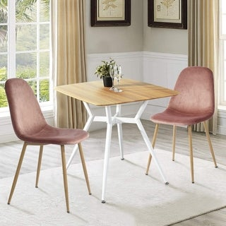 Carbon Loft Searz Dining Table Metal Frame Square Table Top