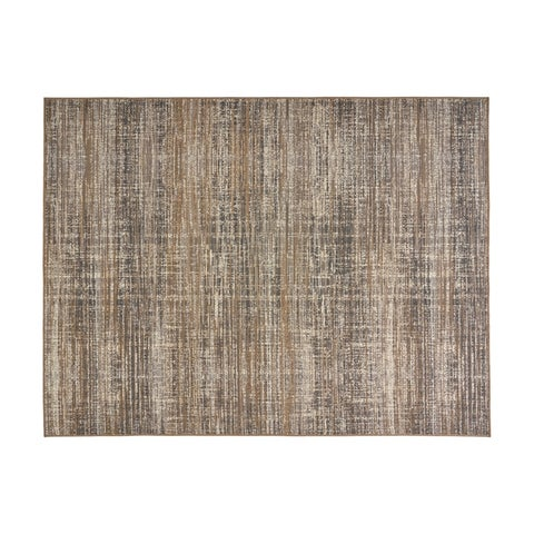 Cortez Outdoor Contemporary Fabric Gray and Beige Area Rug by Christopher Knight Home
