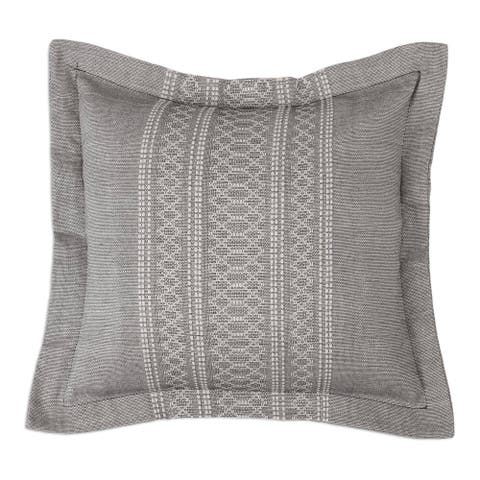 Handmade SoapstoneCotton and silk blend cushion cover (Mexico)