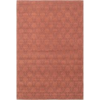 ECARPETGALLERY Handmade Collage Dark Brown Chenille Rug - 5'0 x 7'7