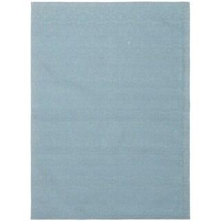 ECARPETGALLERY Handmade Collage Light Blue  Chenille Rug - 5'5 x 7'7