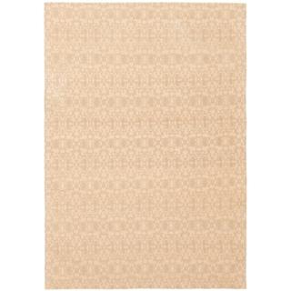 ECARPETGALLERY Handmade Collage Khaki, Tan Chenille Rug - 4'9 x 6'10