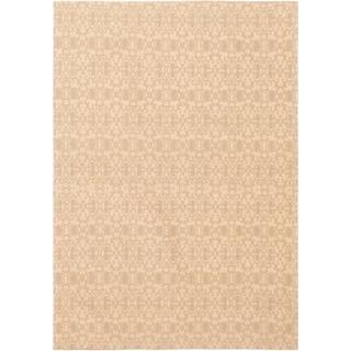 ECARPETGALLERY Handmade Collage Tan, Teal Chenille Rug - 4'9 x 6'9