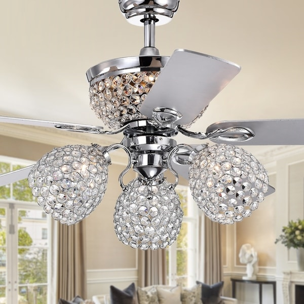 Shop Jasper Silver 52 Inch 5 Blade Lighted Ceiling Fan