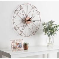 """Kate and Laurel Mendel Geometric Metal Wall Clock - 24.5"""" Diameter"""