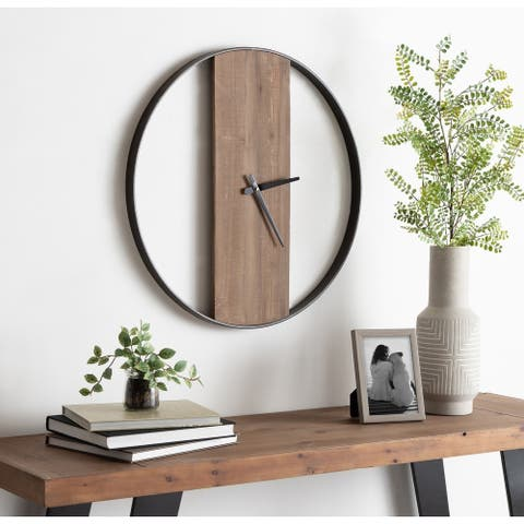 "Kate and Laurel Ladd Round Numberless Wall Clock - 24"" Diameter"