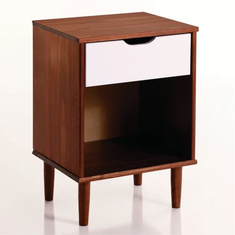 Carson Carrington Ulserod Transitional Open Bedside Nightstand
