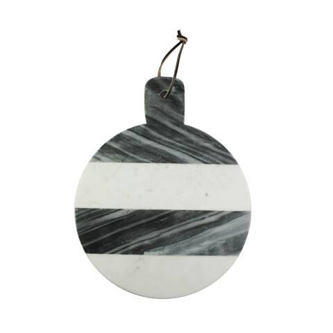 marble white/gray round cutting