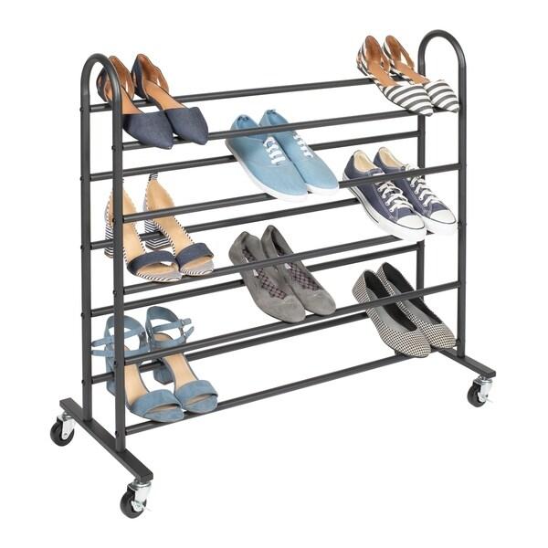 SHOE/BLK 5 Tier Standing Shoe Rack