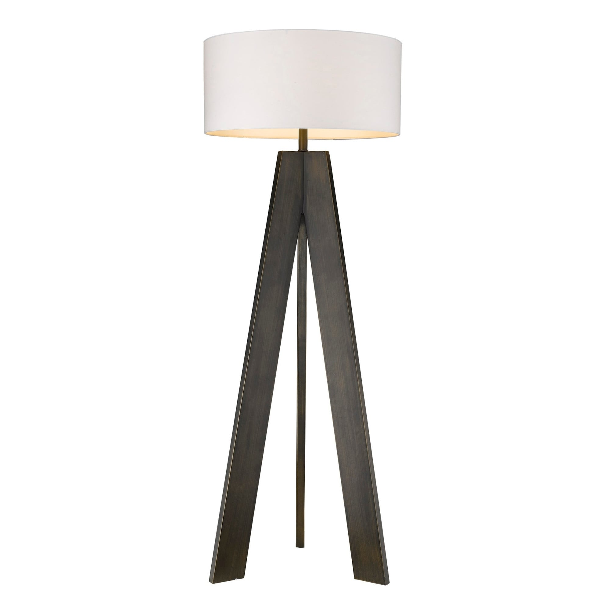 Image of: Shop Soccle 1 Light Oil Rubbed Bronze Floor Lamp Oil Rubbed Bronze Oil Rubbed Bronze Overstock 28227900