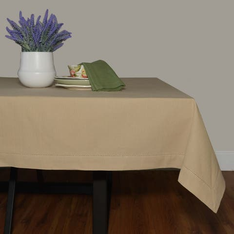 Dunroven House Cotton Hemstitch Tablecloth