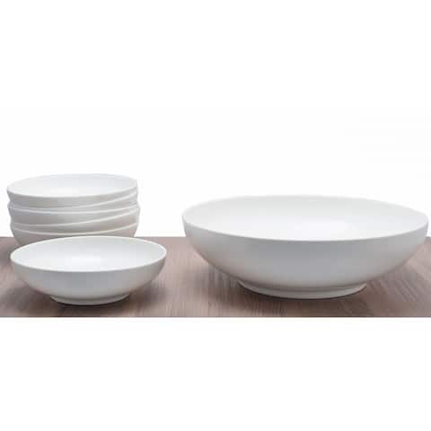 Red Vanilla Everytime White Hostess Serving Bowl with Individual Bowls