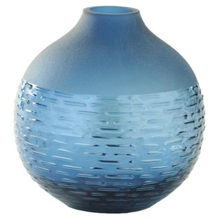 Porch & Den Marlee Steel Blue Small Round Vase