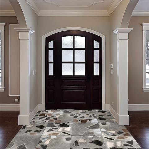 SomerTile 17.875x17.875-inch Venice Decor Porcelain Floor and Wall Tile (5 tiles/11.33 sqft.)