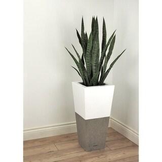 Lux Betona 18 Inch Fiberglass and Concrete Pot Planter