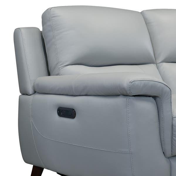 Surprising Shop Lizette Contemporary Top Grain Leather Dove Grey Power Unemploymentrelief Wooden Chair Designs For Living Room Unemploymentrelieforg