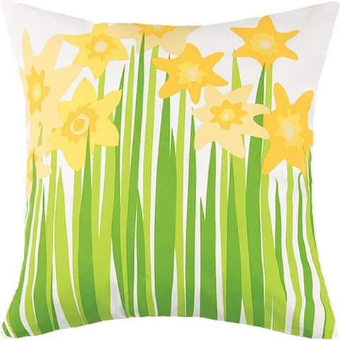 Daffodil Printed Outdoor Pillow