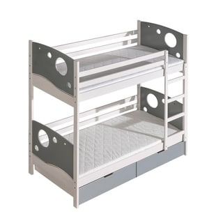 CALVIN Kids Bunk Bed with 2 Mattresses