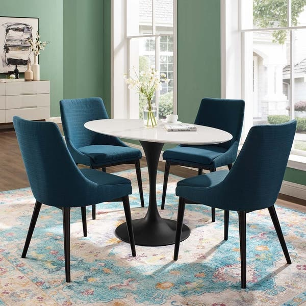 Modway Lippa Mid Century Modern 48 Oval Dining Table