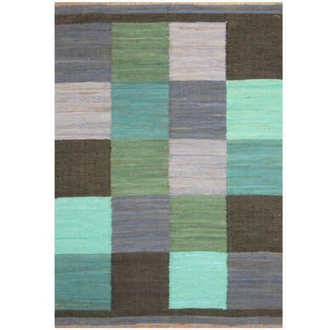 Handmade Wool Kilim (India) - 5'8 x 7'9