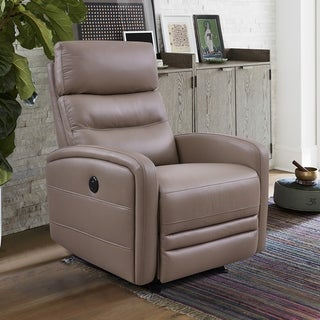 Tristan Contemporary Top Grain Leather Power Recliner Chair with USB