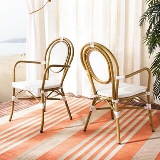 Safavieh Outdoor Living Rosen Stacking Indoor/Outdoor Arm Chair (Set of 2)