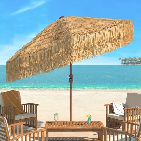 Safavieh Outdoor Living Tiki 9Ft Crank Umbrella