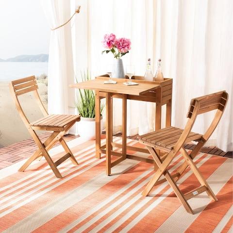 Safavieh Outdoor Living Walten Flower Shelf 3pc Bistro Set