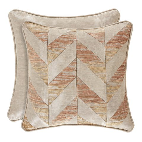 Copper Grove Munder Coral 18-inch Square Decorative Throw Pillow