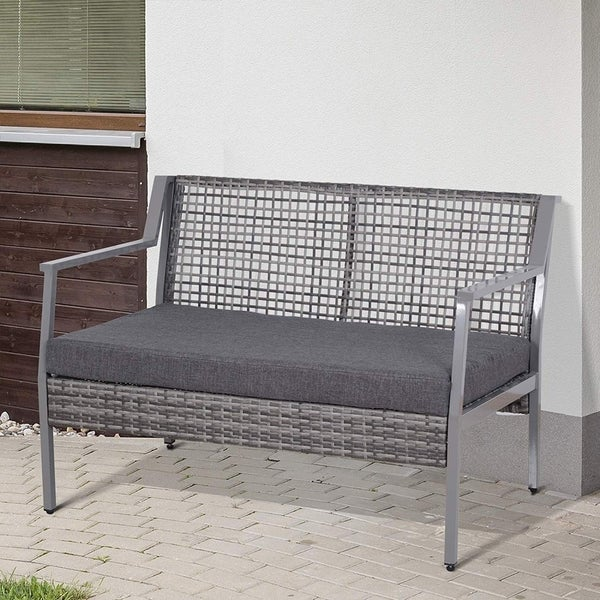 Steel Pe Rattan Wicker Garden