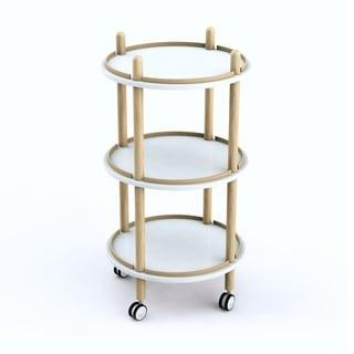 Jamesdar Blythe 3-Tier Bar Cart
