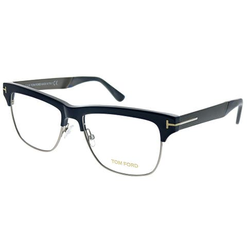 Tom Ford Unisex Navy Silver Frame Eyeglasses