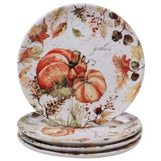 Certified International Harvest Splash Dinner Plates, Set of 4