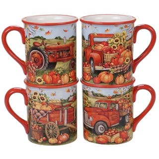 Certified International Harvest Bounty 18-ounce Mugs, Set of 4