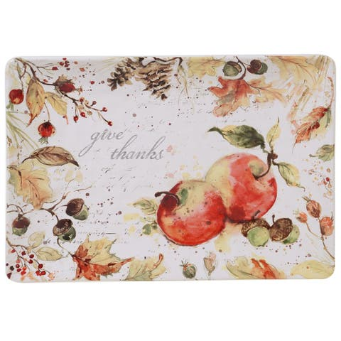 Certified International Harvest Splash 14-inch Rectangular Platter