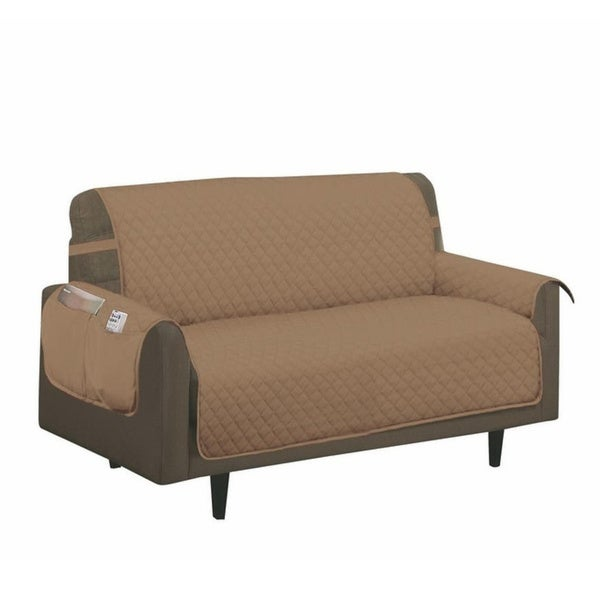 Porch & Den Genrosa Quilted Diamond Loveseat Furniture Protector Slipcover