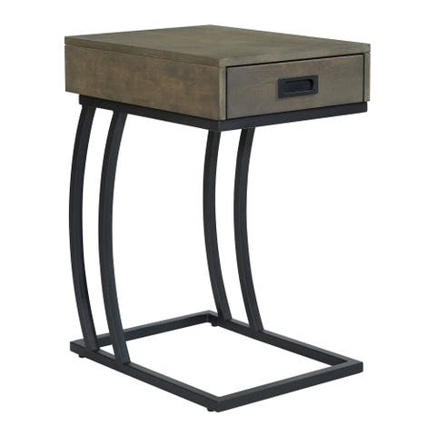Carbon Loft Clovis C-table with Charging Station