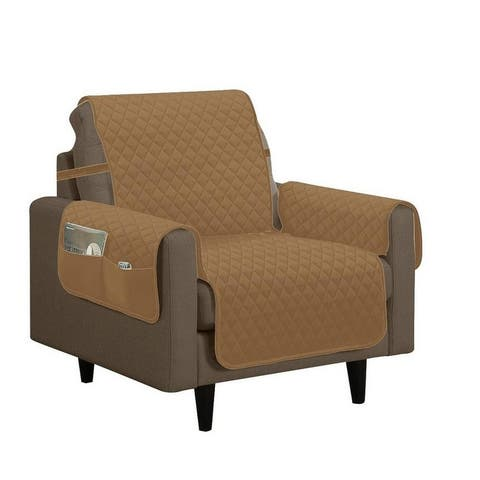 Porch & Den Genrosa Quilted Diamond Chair Furniture Protector Slipcover