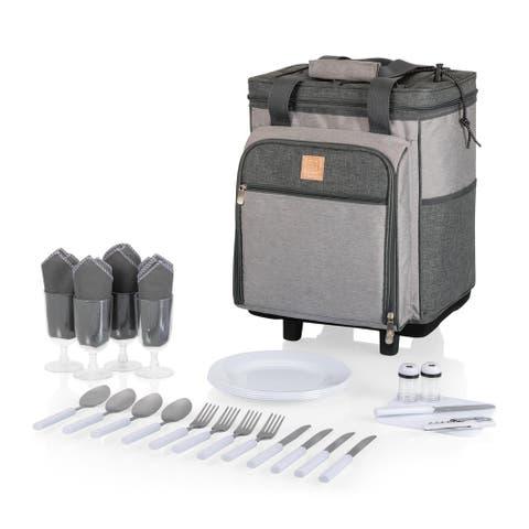 Rolling Picnic Cooler (Heathered Gray)