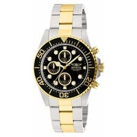 Invicta Men's Pro Diver 1772 Stainless Steel, Gold Watch