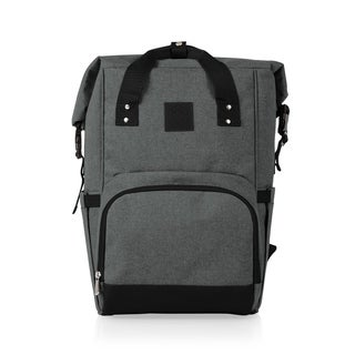 Link to On The Go Roll-Top Cooler Backpack, (Heathered Gray) Similar Items in Picnic