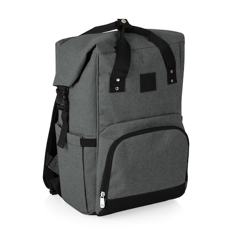 On The Go Roll-Top Cooler Backpack, (Heathered Gray)
