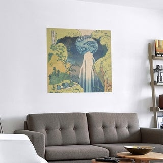 Link to Porch & Den Katsushika Hokusai 'Japanese Waterfall' Removable Art Decal Similar Items in Vinyl Wall Art