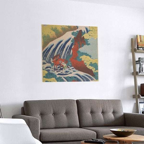 Porch & Den Katsushika Hokusai 'Horse and Waterfall' Removable Art Decal. Opens flyout.