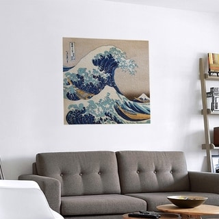 Link to Porch & Den Katsushika Hokusai 'The Great Wave' Removable Art Decal Similar Items in Vinyl Wall Art